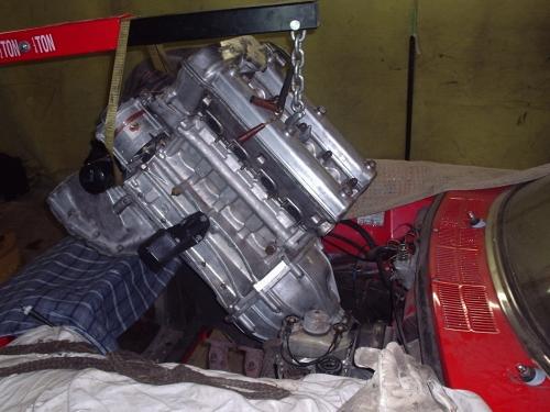 Einbau der Motor/Getriebeeinheit